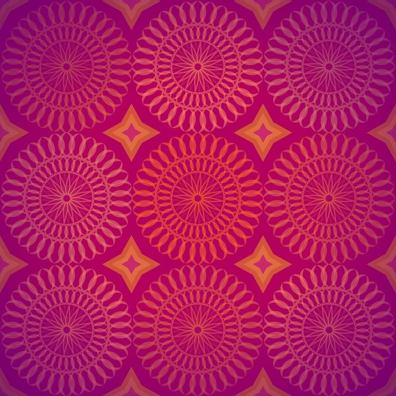Flower chakra wheel design